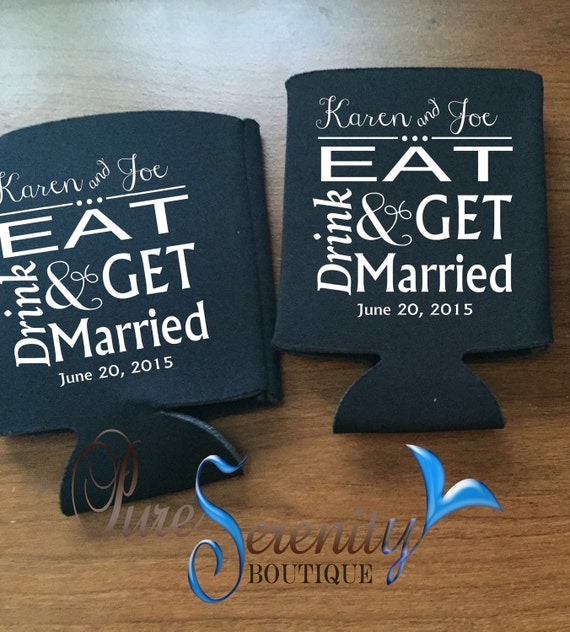 personalized koozies wedding favors wedding koozies