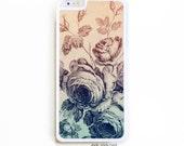 iPhone 6 Plus Case. iPhone 6+ Case. Vintage Ombre Floral. Phone Case. iPhone Case.. Floral Phone Case. Ombre Phone Case.