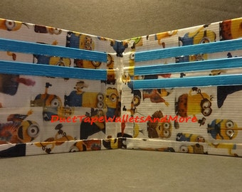 Handmade Duct tape wallet Minions