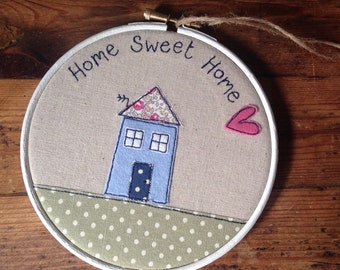Home Sweet Home Hoop - White/Natural