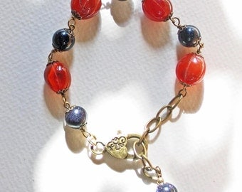 Carved-Carnelian-Blue-Goldstone-Bracelet