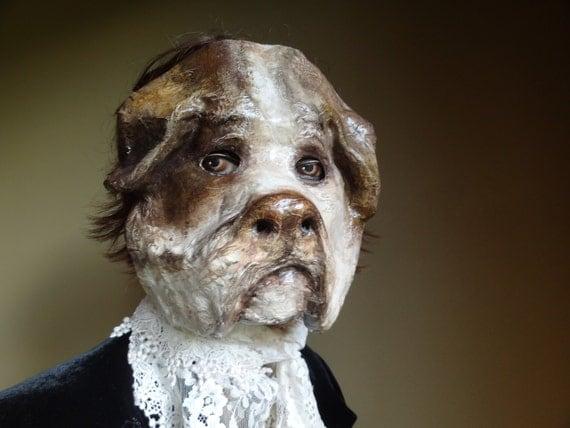 beau bulldog anglais chien masque bulldog masque animaux