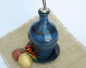 Blue Olive Oil Bottle - Cruet