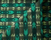 Peruvian Fabric, Andean Fabric, Woven, Green Bamba, 2 Yards
