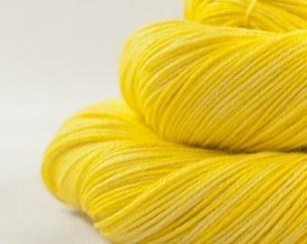 Hand Dyed Merino / Silk Sock Yarn Yellow