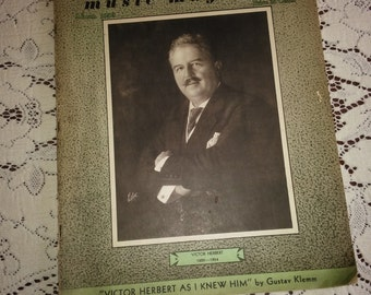 The Etude March 1939 Vintage Etude Magazine Victor Herbert