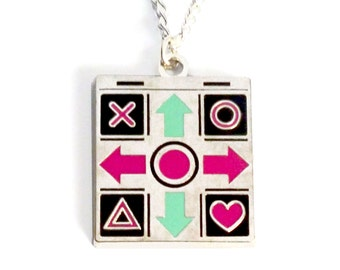 SALE - Small Dance Mat - Gamer - Geeky - Quirky Necklace