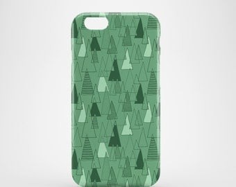Forest Pattern phone case / pattern iPhone 7 case, iPhone 7 Plus, iPhone SE, iPhone 6S, iPhone 6, iPhone 5S, iPhone 5, Green phone case