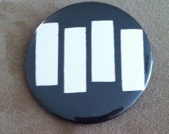 Black Flag Pin Back Button