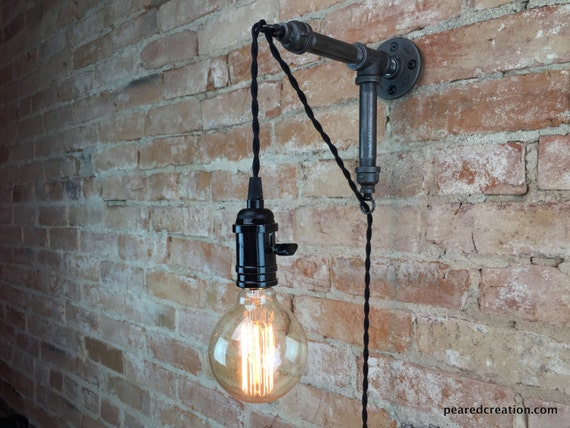 Hanging Wall Lamps industrial wall sconce pendant edison hanging lamp