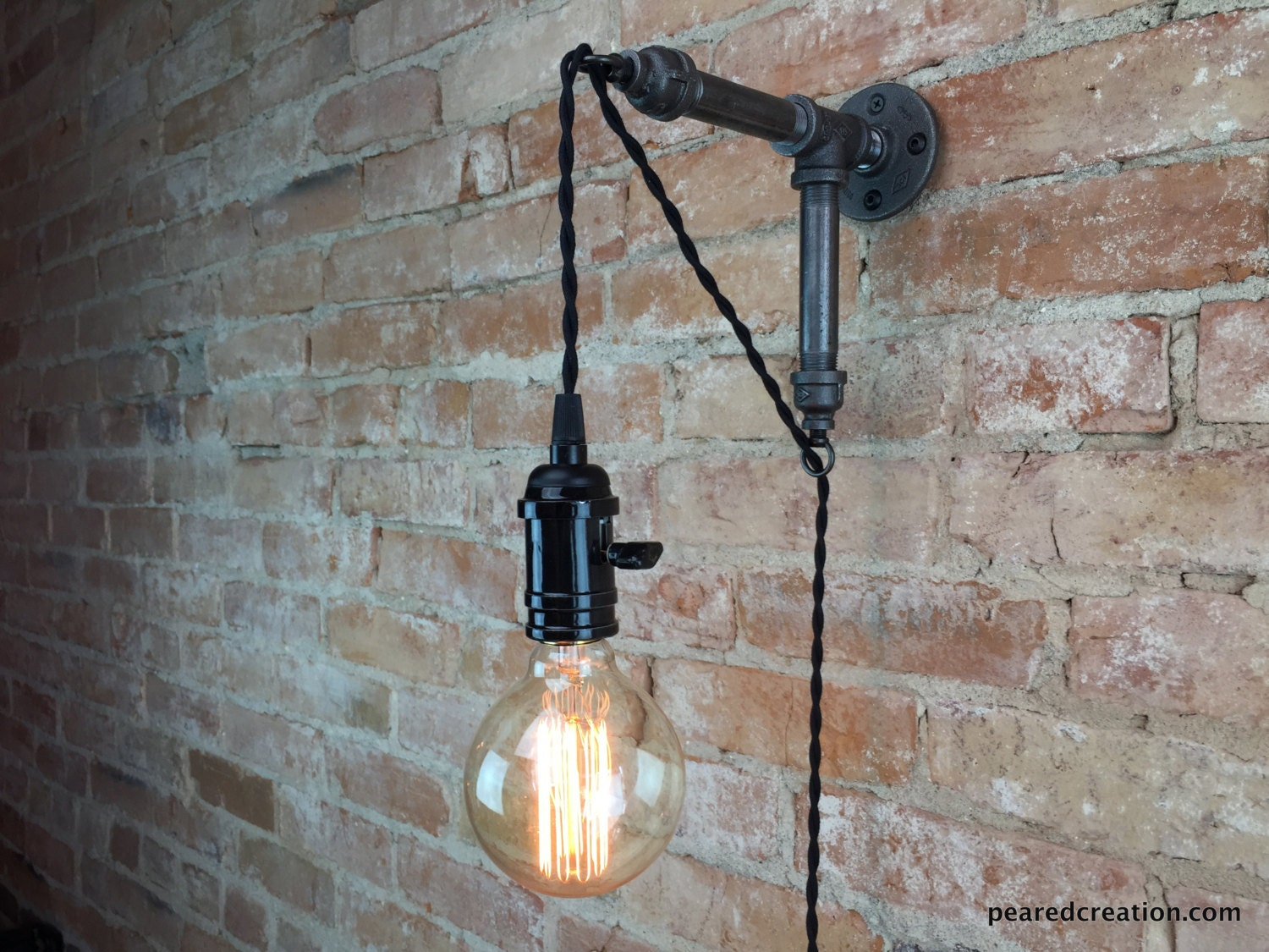 industrial wall sconce pendant edison hanging lamp. Black Bedroom Furniture Sets. Home Design Ideas