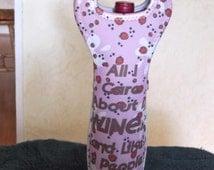 funny wine tote,  insulated wine tote, booze tote, funny booze tote, wine tote, bottle tote
