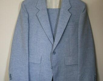 vintage blue levi two piece suit size 40R