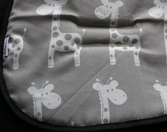 Reversible Pram and Stroller liners- Grey, Giraffe