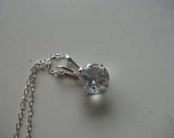 Silver and White Topaz Necklace