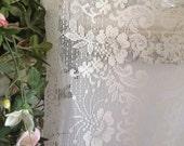 Vintage lace panel cream lace victorian