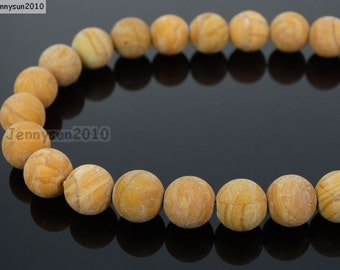 Natural Matte Woodgrain Jasper Frosted Gemstones 4mm 6mm 8mm 10mm 12mm Round Loose Spacer Beads 15'' Strand Jewelry Design