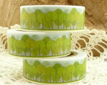 Spring Green Trees Washi Tape - FF1749