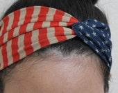 Headband, Fourth of July headband, turban headband, turband headband women, July 4th headband, American flag headband, 4th of July headbands