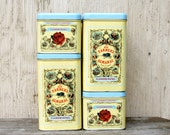 Farmer's Almanac Tins - Vintage Set of 4 Stacking Canisters, Gardening