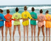 Woman's Monogrammed Fishing shirt short sleeve Adult sizes Beach cover up XS S M L XL 2XL 3XL