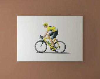 Chris Froome - Tour de France 2013 Winner CANVAS PRINT