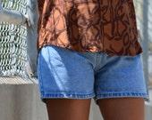 High Waisted Shorts, Size 6, Light Blue Booty Shorts, Honors Vintage Women's Shorts, 80's Shorts Ladies' Short Jean Shorts, BOHO, Hipster