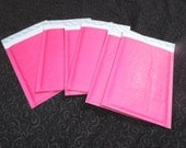 10 6x10 HOT PINK KRAFT Quality Bubble Mailer Self Seal Envelopes-#0 6x10,Bubble mailing shipping mailers, Rigid Colored Padded Pink Mailers