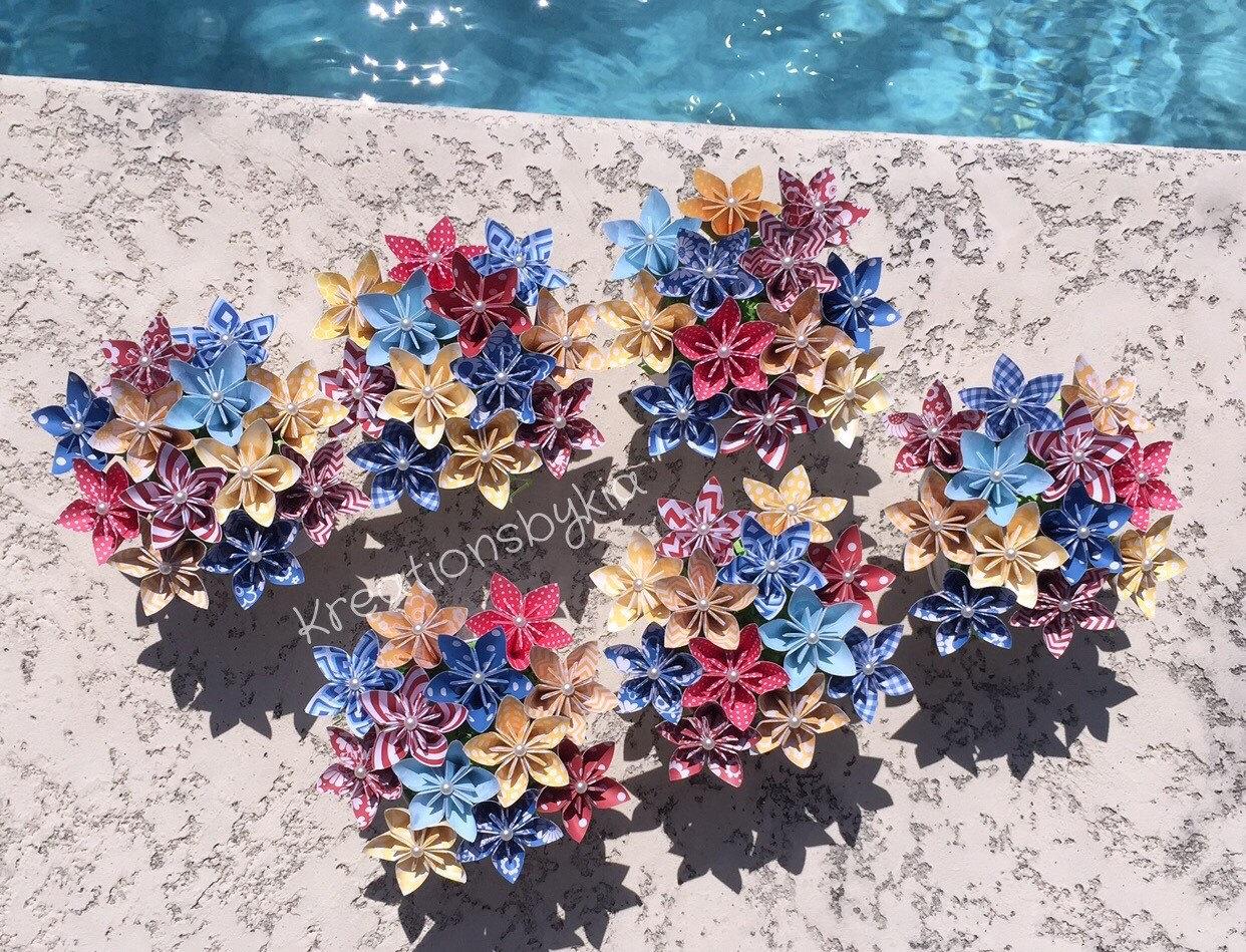 Only Primary// Kusudama Origami Flower Bouquet/flower Arrangement ...