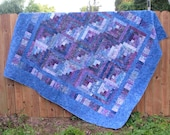 Quilts in the City Custom Quilt For Log Cabin Queen or King
