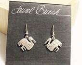 Vintage Laurel Burch Stork Earrings, Crane Earrings, Gifts Under 25, Bird Jewelry