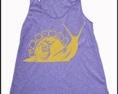 Women's Gradual Snail Hawaii Tank Top Chill Pace Relax Hawaiian Time Shirt