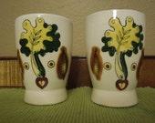 Vintage Anthropomorphic Juice Glasses Set of Two