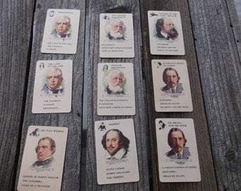 Vintage Game of Authors playing cards