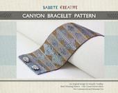 Peyote Bracelet Pattern - CANYON Bracelet in Hematite, Grey and Bronze - Digital Download