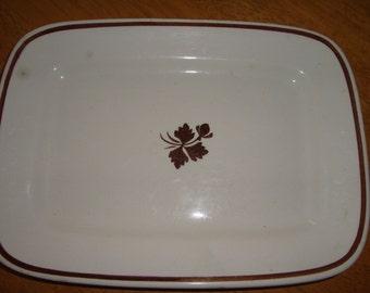 "Antique Ironstone Alfred Meakin Tea Leaf 10.75"" Serving Platter Royal Ironstone 1891-1897 mfg date"