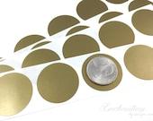Gold 1.25 inch Round scratch off stickers