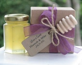 Honey Favors, Boxed Favor with Dippers, Wedding Favors, Honey Wedding Favors