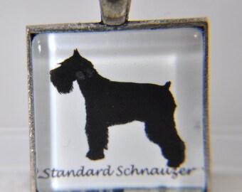 Standard Schnauzer Dog - Dog Breed Silhouette - Dog Silhouette Necklace - Dog Breed Necklace - Dog Breed Jewelry -Dog Breed Pendant