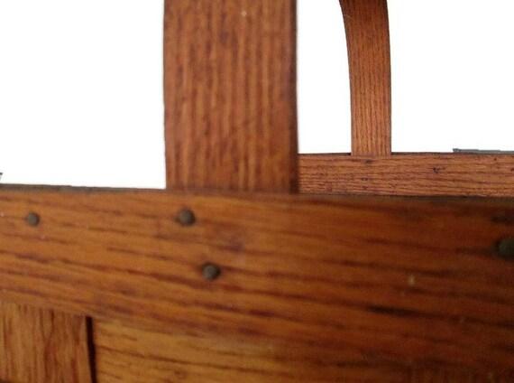 Split panier bois ch ne chemin e bois caddy par weelambievintage - Panier pour le bois de cheminee ...