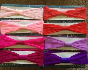 Set of FIVE - Interchangeable Nylon Baby Headbands - You PICK the COLORS