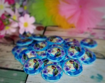 Cinderella Buttons - Cinderella Assorted Flatback - 30mm Buttons