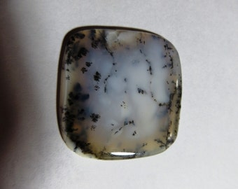 Dendrite Opal Cabochon  100% Natural Stone Good Quality Cushion  Shape Size 34X34 mm Approx