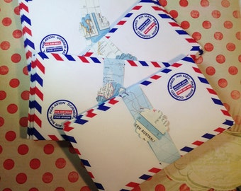 75 Air Mail Envelopes for Mailing, Crafts, Journals, Crafts, Altered Arts, Mixed Media, Birthday Celebrations, etc.
