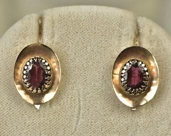 Victorian most goregeous garnet drop earrings