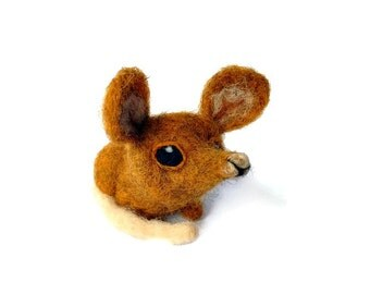 Mouse Fibre Sculpture, Needle Felted Mouse Plush (Bo)