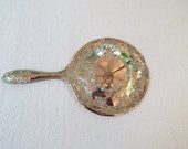 Victorian Style Hand Mirror Silver Plated