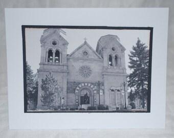 photo card, Historic Church, Santa Fe New Mexico
