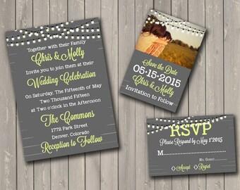 Custom Printable DIY Wedding Invitations