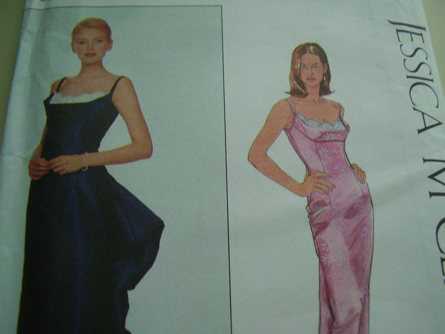 1990 s Simplicity 8918 Jessica McClintock Formal by